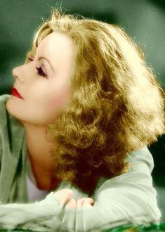 Greta Garbo, beautiful color photo of her