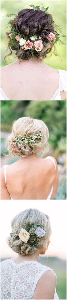 Awesome Wedding Hairstyles»18 Wedding Updo Hairstyles with Greenery Decorations >>  ❤️ See more: www.weddinginclud…  The post  Wedding Hairstyles»18 Wedding Updo Hairstyles with Greenery De ..