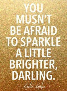 Sparkle like a twinkling star*