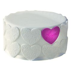 Declare your love with this sophisticated love cake, covered in soft icing and delicate design of hearts. http://www.tajonline.com/valentines-day-gifts/product/v3449/elegant-love-cake/?aff=pint2015/