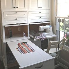 Built in crafting sewing center that all stows away