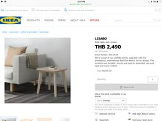 Ikea Side Table, Home And Living, Room, Bedroom, Rum
