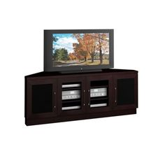 Contemporary 60 Inch Wenge Tv Entertainment Corner Console Stands Home Furniture