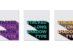 create stacked long shadow typography