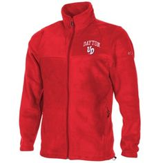 Columbia Dayton Flyers Flanker Full Zip Fleece Jacket - Red---reference