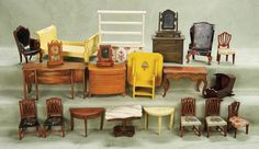 Other People's Lives: 412 Collection of Signed American Dollhouse Furniture by Tynietoy