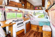 One of my favorite van build designs I've seen! It has such a cool interior layout and would make the perfect campervan for me. #vanlife inspiration at its best!