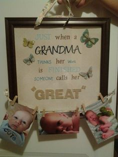 Great-Grandma gift!!