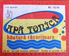 Apa tonica ISR Bucuresti Retro, Memories, Vintage, Memoirs, Vintage Comics, Retro Illustration, Remember This, Primitive, Mid Century