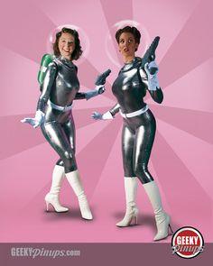 50's Sci Fi Girls by GeekyPinups.deviantart.com on @deviantART