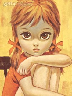these big-eyed pictures were HUGE in the 70's ...I used to get these in paint by numbers too
