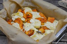 Baked pumpkin with camembert and thyme - Katha cooks! - Baked pumpkin with camembert and thyme - Fish Recipes, Vegetable Recipes, Vegetarian Recipes, Healthy Recipes, Chicken Recipes, Baked Pumpkin, Pumpkin Recipes, Recipe Fo, Best Crockpot Recipes