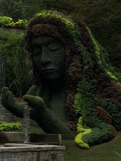 The Goddess topiary
