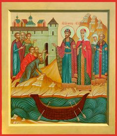 Sts Peter and Febronia – Damascene Gallery Mary And Martha, Pentecost, John The Baptist, Orthodox Icons, Saints, Princess Zelda, Gallery, Painting, Fictional Characters