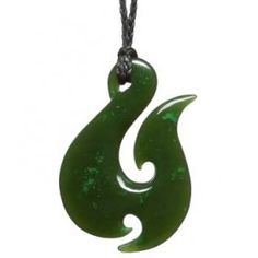 FishHook Greenstone Jade Pendant - Maori - New Zealand