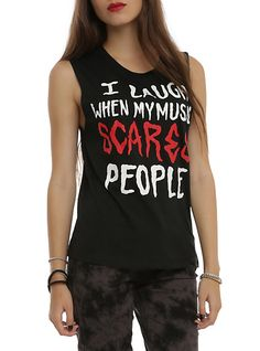 My Music Scares People Girls Muscle Top | Hot Topic