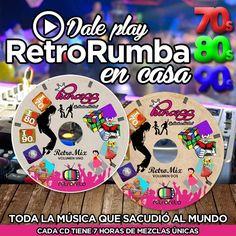 Arma tu propia #RetroRumba con la mejor música de los 70s 80s 90s #Merengue #Salsa #DiscoMusic70 #Changa80 #Techno90 #Reggae #NewWave #1x1 #Pop #TributoMichaelJackson 14 horas de música mezclada  Adquiere los 2 CD`s de Princess y RetroReto por tan solo Bs. 1.400 llamando al 0424.274.1771