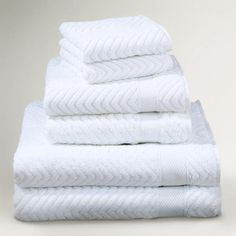 One of my favorite discoveries at WorldMarket.com: White Chevron Cotton Towels
