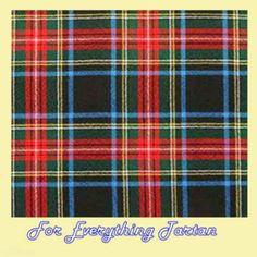 Stewart Black Tartan Dupion Silk Plaid Fabric Swatch  by JMB7339 - $40.00