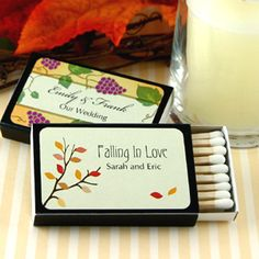 Personalized Fall Wedding Matches - set of 50
