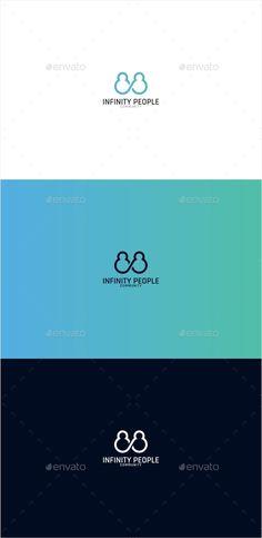 Infinity People Logo Template PSD, Vector EPS, AI Illustrator