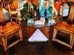 Square #table #base with #wood panels and glass top added #mecox #interiordesign #mecoxgardens #furniture #shopping #design #decor #home #designidea #room #vintage #antiques #garden