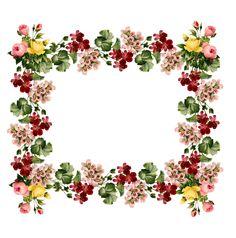 free vintage flower journaling spot /tag AND digital scrapbooking frame and embellishment with vintage flowers – vintage Etikette und Blumenrahmen png – Freebies | MeinLilaPark