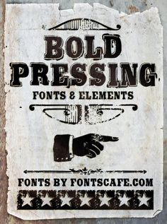 """Bold Pressing Pack"" fonts"