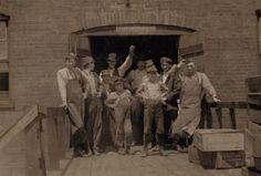 Old Alton Illinois | Glass workers, Shop No. 6, Illinois Glass Company, Alton, IL, May 1910