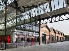The Caproni aeronautical factory complex has been restored, renovated and refreshed by Piuarch to create the Gucci Hub, a new Milanese home for the brand. Combining contemporary architecture with the original factory buildings – which date back to Gucci, 1920s Architecture, Contemporary Architecture, Architecture Design, Brick Facade, Adaptive Reuse, Exposed Brick, Fashion Books, Tool Design