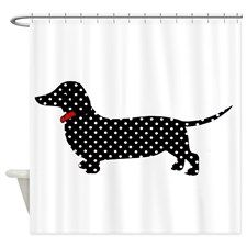 Spot the Dachshund Shower Curtain for