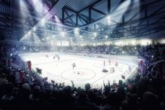 CREA in the new hockey stadium LONZA ARENA in VISP. CREARAILING GG-1005 with 3.0 kN/m!  CREA the swiss glass railing system#swissness#proud Swiss Made. Swiss Quality. World Wide.www.crearailing.ch  #CREA#CREARAILING #CREALINE#glassrailing#railing#glassbalustrade#railing#swissmade #Ganzglasgeländer#Glasgeländer #Gardecorpsenverre#stakleneograde Glass Railing System, Glass Balustrade, Hockey, World, Glass Handrail, Field Hockey, Ice Hockey, Peace, The World