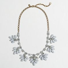 J.Crew+Factory+-+Factory+crystal+leaf+necklace