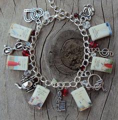 ADULT SIZE Jane Austen Books Fringe Charm Bracelet by sophiesbeads, $44.99
