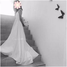 ad6c917e89a97 アメリカ風 シンプル マキシム ウェディングドレス(6サイズ)