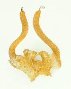 Creita wire mesh necklace, one necklace many designs you can create with Creita. 39'' $40 www.guzeljewelry.com