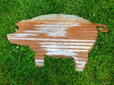 Corrugated Large Tin Pig by SnowValleyTrader on Etsy