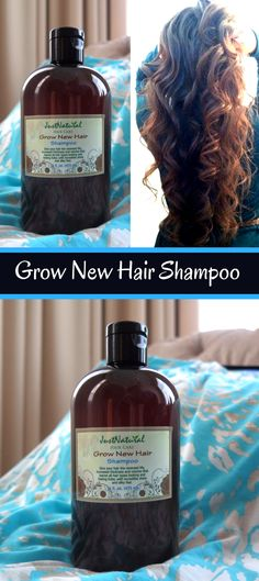Grow New Hair Shampoo / I've only been using it a few weeks so I'm not sure how much new hair growth in have but my hair feels amazing, it feels thicker and it's unbelievably soft! A little goes a long ways, I have very fine hair but very very long hair and a quarter size drop is enough to sudz up every bit of my hair and I don't have to use conditioner! I can't see myself buying any other product line after this.