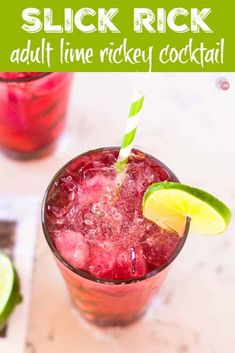 Slick Rick Cocktail - Grape Lime Rickey Cocktail and Mocktail Cocktail And Mocktail, Gin Cocktail Recipes, Vodka Cocktails, Easy Cocktails, Drink Recipes, Grape Vodka Recipes, Grape Lime Rickey Recipe, Cheers, Sparkling Grape Juice