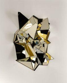 Зеркало Froissé, дизайнер Матиас Кисс для Galerie Armel Soyer