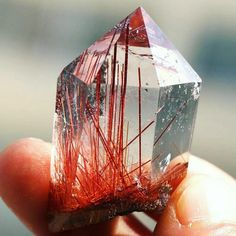 "Minerals Every Day (@minerals_every_day) on Instagram: ""Rutile in quartz"""