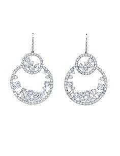 Diamond Drop Bubble Earrings