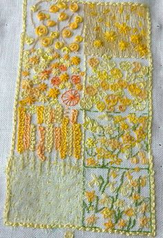 yellow sampler by miriamjoy, via Flickr