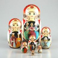Tale of Tsar Saltan and Three Sisters Nesting Doll