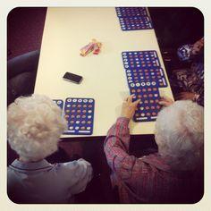 Bingo with elderly people