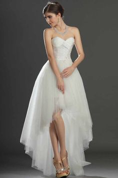 High low wedding dress..