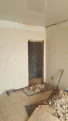 Part of building comes breaking down and breaking out... get rid of some stress...