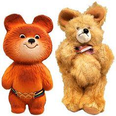 Olympijští maskoti | Aukro Old Toys, Vintage Toys, Teddy Bear, Retro, Animals, Old Fashioned Toys, Animales, Animaux, Teddy Bears