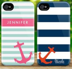 Personalized anchor iPhone cases