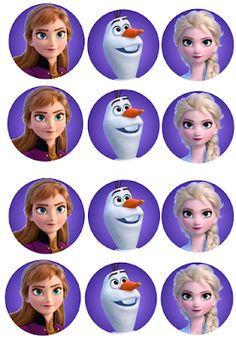 Musings of an Average Mom: Free printable Frozen 2 Cupcake Toppers Frozen Birthday Cupcakes, Frozen Cupcake Toppers, Disney Frozen Birthday, Frozen Cake Topper, Frozen Theme Party, Disney Frozen Elsa, Frozen Free, Frozen 2, Frozen Images